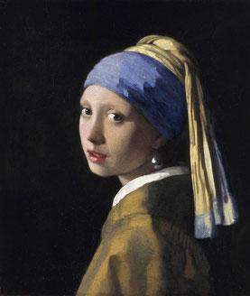 J. Vermeer, Mädchen mit Perlen-Ohrring (Mauritshuis)