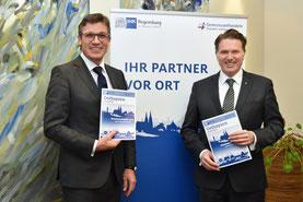IHK-Präsident Michael Matt (l.) und Hauptgeschäftsführer Dr. Jürgen Helmes geben der regionalen Wirtschaftspolitik Impulse. Foto: Burdack