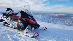 Mit dem Schneemobil Lappland erkunden