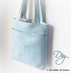 patron couture sac shopping