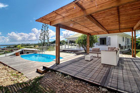 Piscine de la villa Thomana en Guadeloupe
