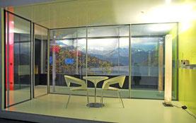 Architekturbüro Silke Hopf Wirth & Toni Wirth Architekten ETH HTL SIA Winterthur,  Ausstellungspavillons Sky-Frame Nr. 1-6 R+G AG, Ellikon