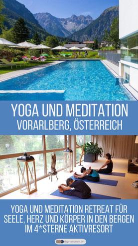 Yoga & Meditation Retreat für Seele, Herz und Körper in den Bergen - Vorarlberg, Österreich - Der schönste Yoga & Meditation Urlaub im 4*Sterne Aktivresort Valavier