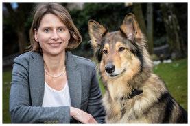 """Hier wäre ein Foto von Birgit Kohlrausch mit """"Co-Coach"""" Franka zu sehen."""