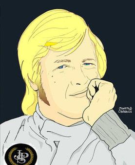 Ronnie Peterson by Muneta & Cerracín en Monza en 1976