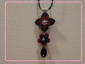 革のお花ネックレス~アレンジバージョン~