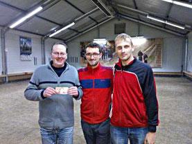 Sieger Benny (Mitte) mit Dirk B. und Florian
