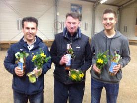 Gesamtsieger Erdal, Rolf und Lukas (v.l.)