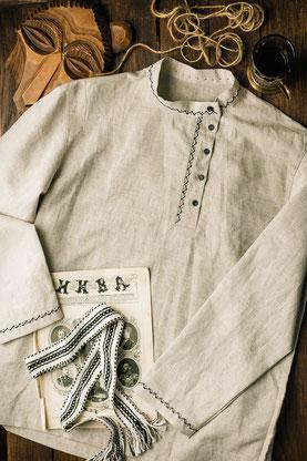 русская рубашка, косоворотка мужская, льняная рубашка,Russian embroidered shirt