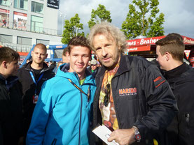 Freddy mit Thomas Gottschalk (© Killensberger-Racing)