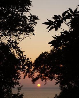 6/25の夕焼け。