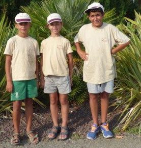 Enzo, Jonas et Quentin : nos 3 champions !