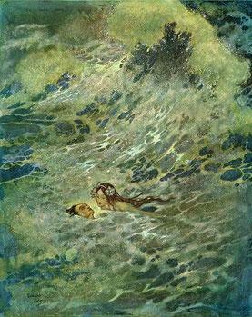 La petite sirène, illustration de Edmond Dulac