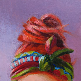 """Women painting """"Anna"""" 15 x 15 cm (5,9 x 5,9 inches)"""
