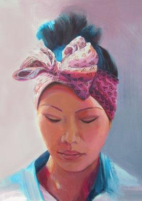 "Women painting ""Melanie"" 60 x 80 cm (23,6 x 31,5 inches)"