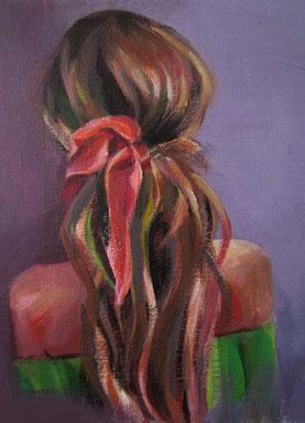 "Women painting ""Nina"" 18 x 24 cm (7 x 9,4 inches)"