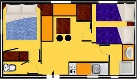 plan mobile home LAMPARO 26m2 et 28m2