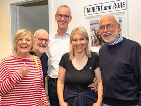 vlnr: Margret und Ulrich Taubert, Klaus und Barbara Focke, Carsten Ruhe