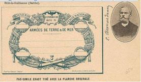 Fac similé de la carte postale de 1870 de Léon Besnardeau