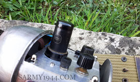 Dettaglio della valvola termoionica 12sk7 VT-131
