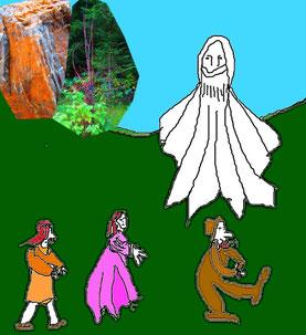 Die Weiße Frau, ein bekannter Mythos in Märchen und Sage