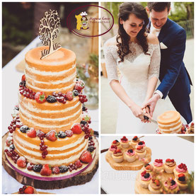 Naked Cake eindhoven, cupcakes eindhoven, bruidstaart eindhoven, rustieke taart en cupcakes, taart met vers fruit, cupcakes met vers fruit