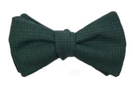 Herren Anzug Fliege dunkel grün zum selbstbinden - herbstfliege