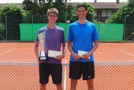 Turniersieger Albert Wagner und Finalist Blaz Seric
