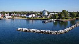 Luftbilder von Rechlin - Hafendorf mit Marina