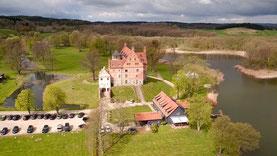 Luftbilder Burg Ulrichshusen in der Seenplatte