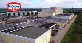 Luftbild von Wittenburg im Industriegebiet Dr. Oetker