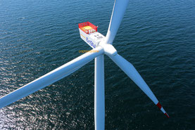 EnBW Windrad - Luftbild Offshore Windpark Baltic 2 Ostsee Drohne