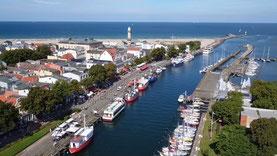 Luftbilder Warnemünde Alter Strom Hafen