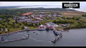 Luftbild von Parow an der Ostsee bei Stralsund