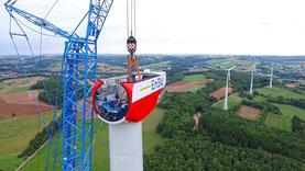 Luftbilder Drohne Windkraftanlage WKA