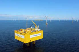 EnBW Umspannstation - Luftbild Offshore Windpark Baltic 2 Ostsee