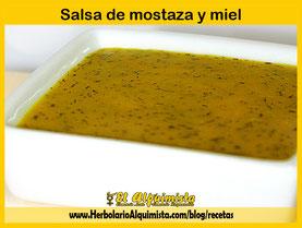 Salsa de mostaza y miel Herbolario Alquimista Arrecife Lanzarote