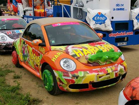Volkswagen New Beetle HARIBO Croco   Caravane Tour de France 2007