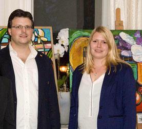 Matthias Laurenz Gräff und die Kunstkuratorin des Projekt Spielberg, Sabrina Redhead im Steirerschlössl Zeltweg. Foto Kleine Zeitung (Murtal)