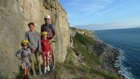 Blacknor South Family climb - Portland