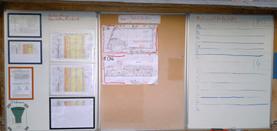 Baustellenleitstand mit Materialliefertafel