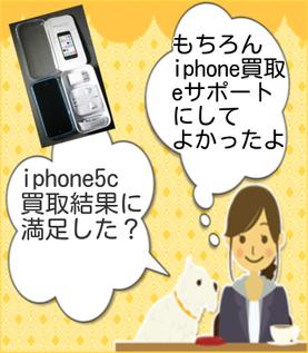 もちろんiphone5C中古品の買取結果に満足したよ