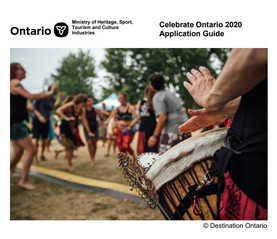 Cover page of Celebrate Ontario 2018 Application Guide