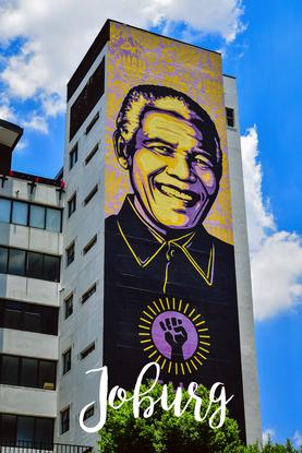 Mandela ist als Streetart allgegenwärtig