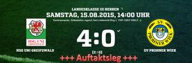 1.Spieltag Landesklasse III - Saison 2015/2016