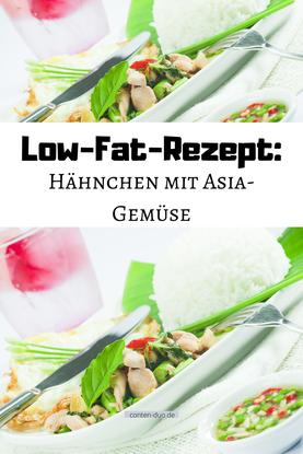 Low-Fat-Rezept: Hähnchen mit Asia-Gemüse