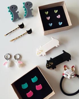 pendientes y accesorios para niñas y adolescentes