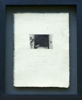 「雉の間の蝶」 銅版画 20.5x15cm