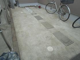 駐車場土間 塗装前