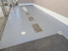 駐車場土間 塗装後